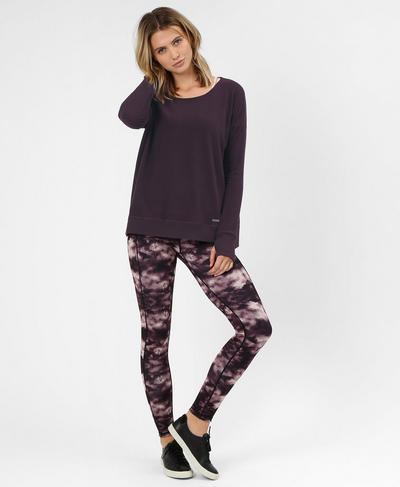 Luxe Simhasana Sweatshirt, Aubergine | Sweaty Betty