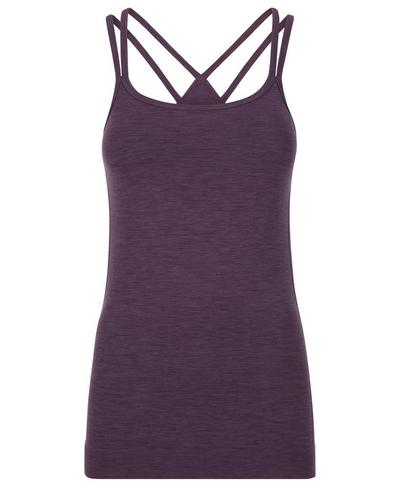 Namaska Padded Yoga Tank, Aubergine | Sweaty Betty