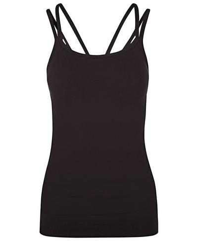 Namaska Bamboo Padded Yoga Tank, Black | Sweaty Betty
