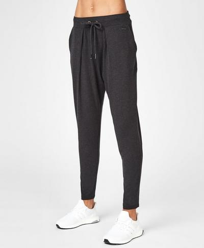Bannatyne Pants, Black Marl | Sweaty Betty