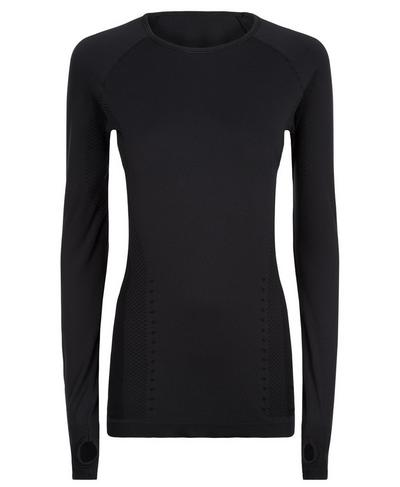 Finish Line Long Sleeve Run Top, Black | Sweaty Betty