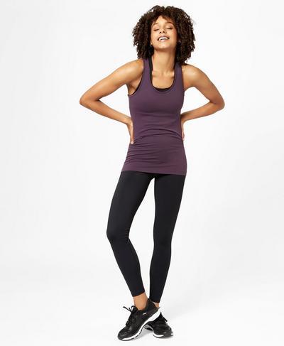 Athlete Seamless Workout Tank, Aubergine | Sweaty Betty
