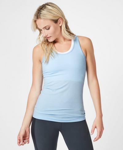 Athlete Seamless Workout Tank, Infinity Blue | Sweaty Betty