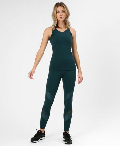 Athlete Seamless Workout Tank, Midnight Teal | Sweaty Betty