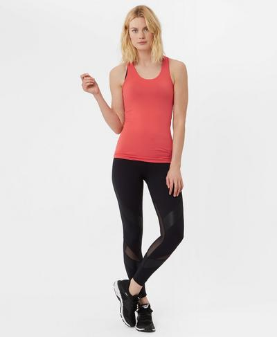 Athlete Seamless Workout Vest, Rebel Red | Sweaty Betty