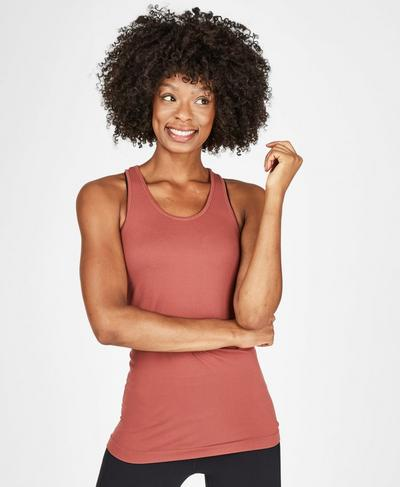 Athlete Seamless Workout Tank, RUST | Sweaty Betty