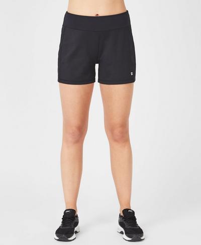 Time Trial Run Shorts, Black | Sweaty Betty