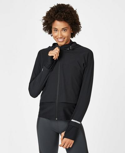 Fast Track Run Jacket, Black | Sweaty Betty