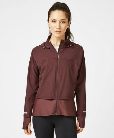 Fast Track Running Jacket, Black Cherry | Sweaty Betty