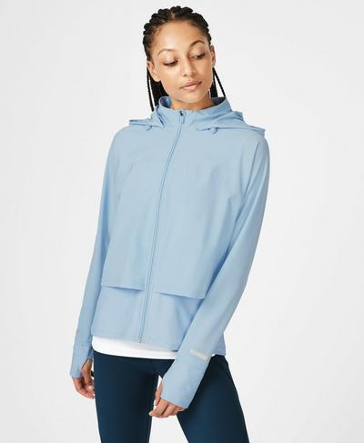 Fast Track Running Jacket, Infinity Blue | Sweaty Betty