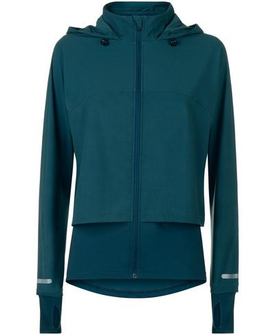 Fast Track Run Jacket, Midnight Teal | Sweaty Betty