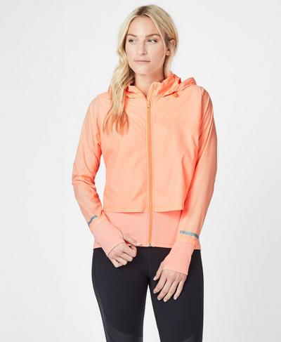 Fast Track Running Jacket, Passion Coral | Sweaty Betty
