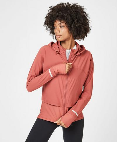 Fast Track Running Jacket, RUST | Sweaty Betty