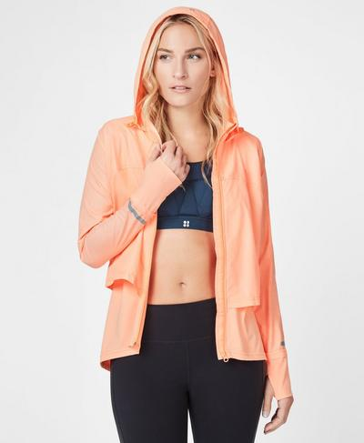 Fast Track Run Jacket, Passion Coral | Sweaty Betty