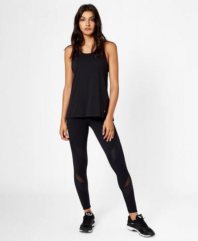 Power Mesh Leggings, Black | Sweaty Betty