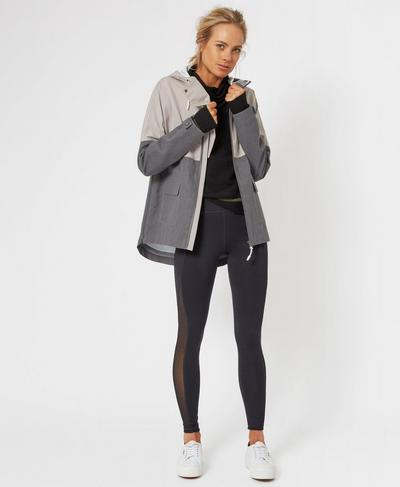 Brave The Elements Jacket, String Charcoal | Sweaty Betty