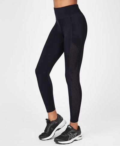 Zero Gravity High Waisted Running Leggings, Black | Sweaty Betty
