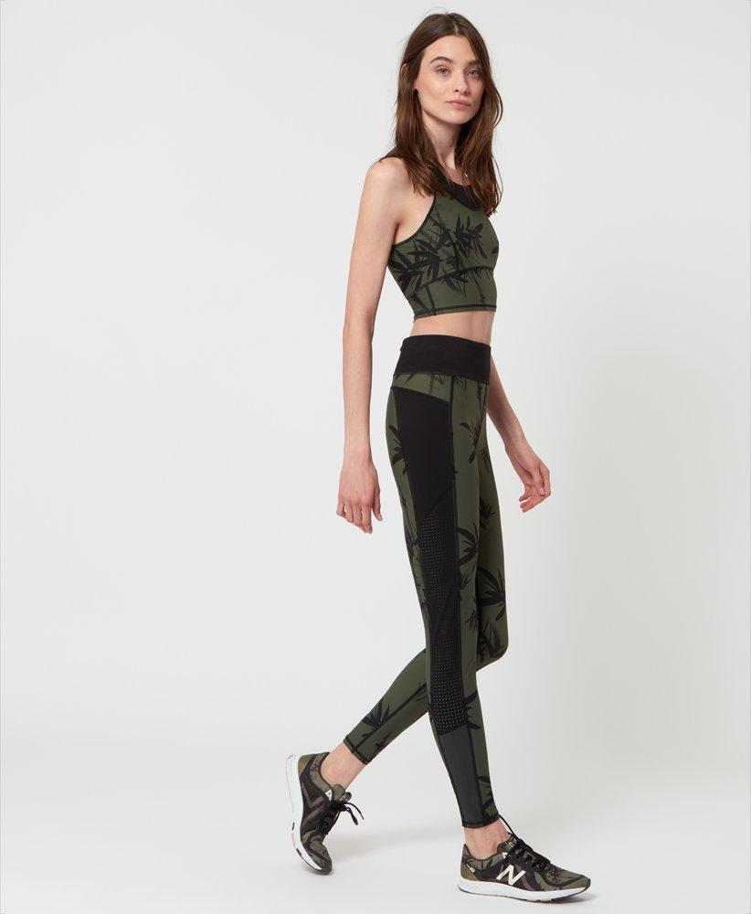 105b3cf9ac86b Zero Gravity Run Leggings - Olive Bamboo Shadow Print | Women's ...
