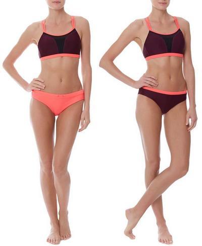 Offshore Reversible Training Bikini Bottoms, Oxblood   Sweaty Betty