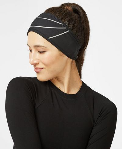 Thermal Earwarmer, Black | Sweaty Betty