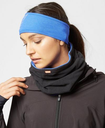 Reversible Expedition Neck Warmer, Ultramarine | Sweaty Betty