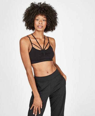 Vinyasa Yoga Bra, Black | Sweaty Betty