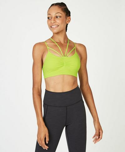 Vinyasa Yoga Bra, Lime Punch | Sweaty Betty