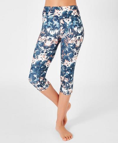 Contour Capri Workout Leggings, Fox Print | Sweaty Betty