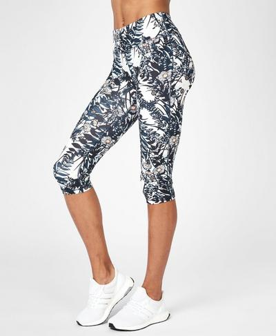Contour Cropped Workout Leggings, Mystical Garden Print | Sweaty Betty