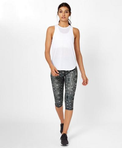 Contour Crop Workout Leggings, Tonal High Tea Print | Sweaty Betty