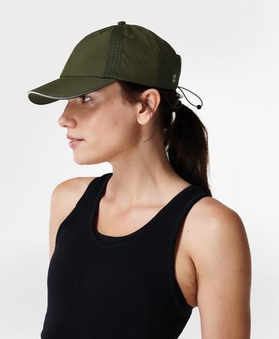 Swiftie Run Cap , Mountain Green | Sweaty Betty