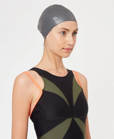 Swim Cap, CHARCOAL | Sweaty Betty