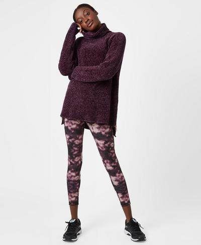 Resto Knitted Sweater, Aubergine | Sweaty Betty