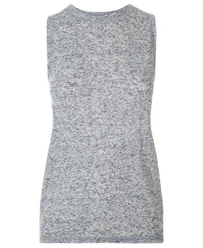 Demi Drape Yoga Tank, Charcoal Marl | Sweaty Betty