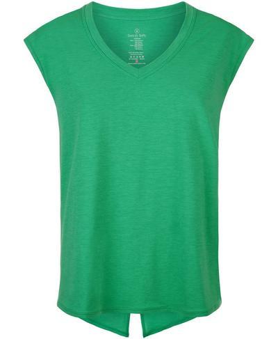 Open Back Workout Tee, Simply Green   Sweaty Betty