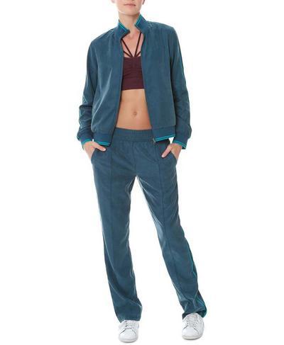 Luxe Bring It Back Track Pants, Beetle Blue   Sweaty Betty