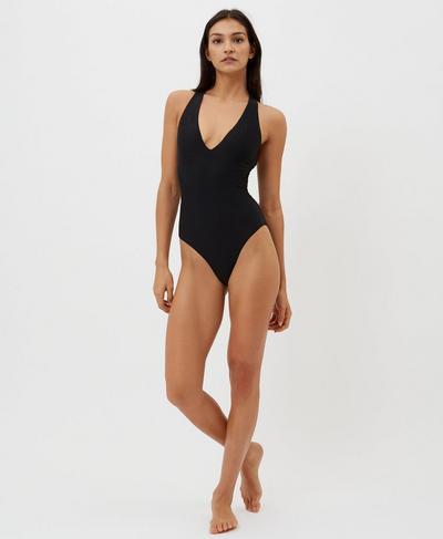 Carve Swimsuit, Black   Sweaty Betty