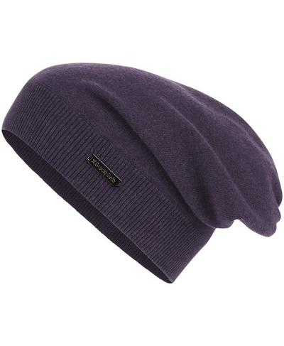 Rapid Running Beanie, Aubergine Marl | Sweaty Betty