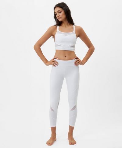 Celestial Yoga Crop Top, White A   Sweaty Betty