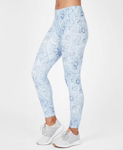 Contour 7/8 Workout Leggings, Infinity Blue Magic Circle | Sweaty Betty