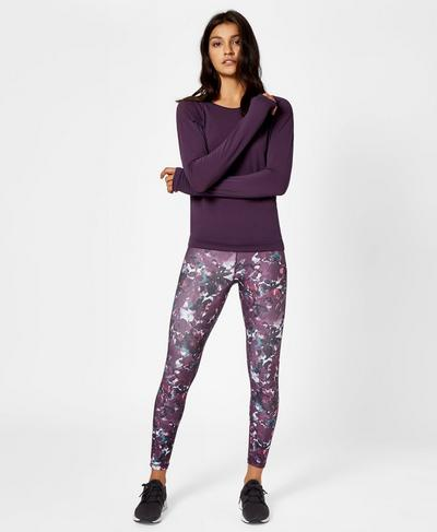 Contour 7/8 Workout Leggings, Nourish Print | Sweaty Betty