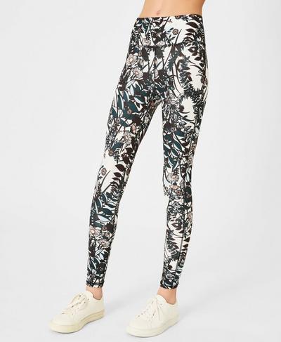 Teen Contour 7/8 Workout Leggings, Mystical Garden Print | Sweaty Betty