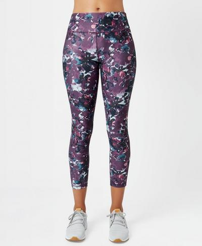 Contour Teen 7/8 Workout Leggings, Nourish Print | Sweaty Betty