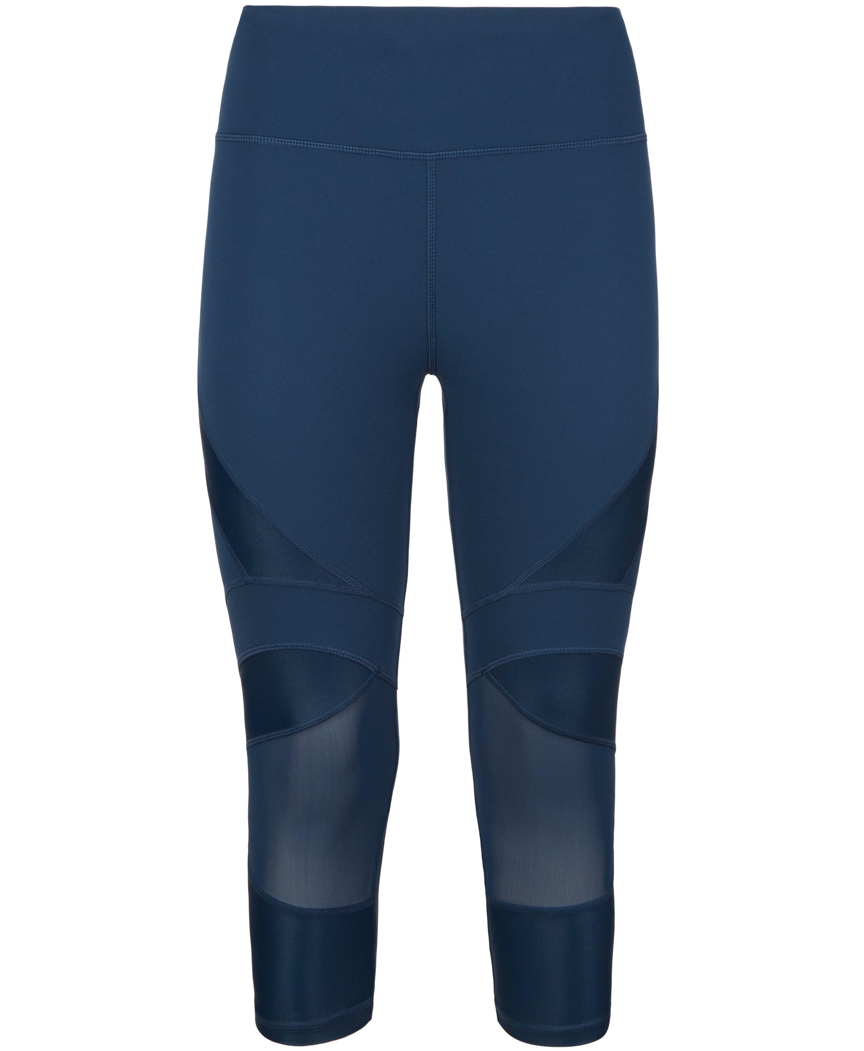 power wetlook mesh crop leggings