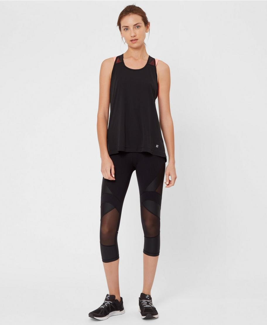 37af377b3d Power Wetlook Mesh Crop Leggings - Black | Women's Leggings | Sweaty Betty