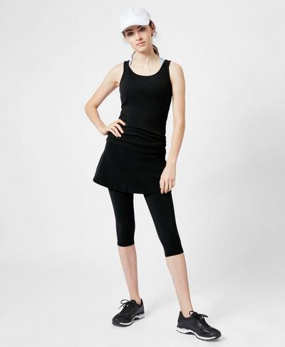 Power Rally Tennis Scapri, Black A | Sweaty Betty