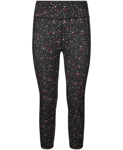 Reversible Crop Yoga Leggings, Multi Ditsy Star | Sweaty Betty