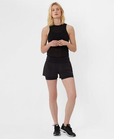 Challenge Run Shorts, Black | Sweaty Betty