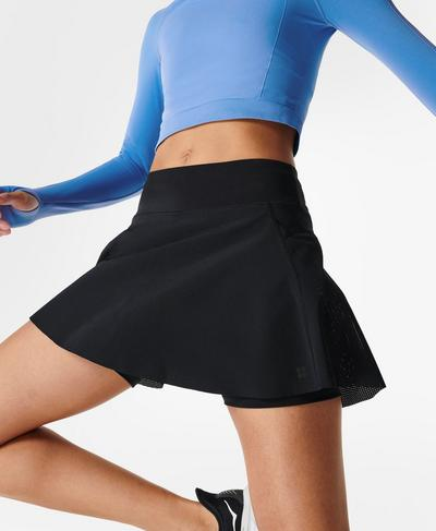 Swift Running Skort, Black | Sweaty Betty