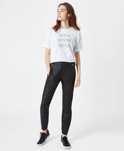 Oversized Slogan Tee, White A | Sweaty Betty